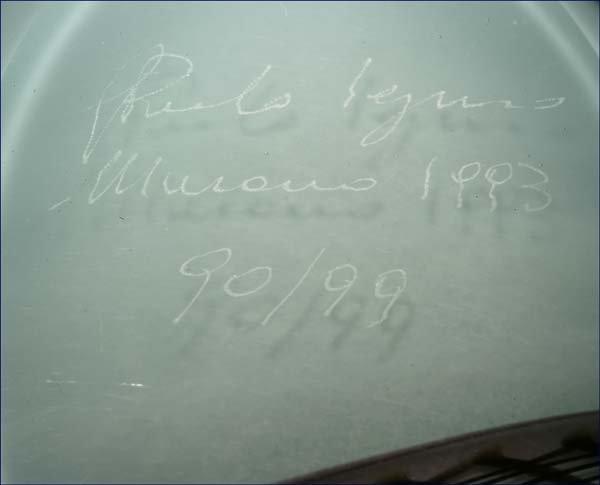 1196: Giampaolo Seguso Murano Vaso Perta art glass vase - 4