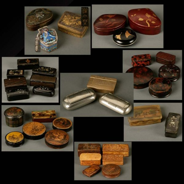 2003: A collection of snuff, patch, and table boxes