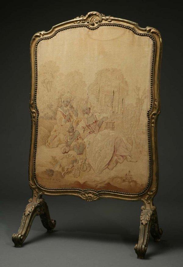 2011: A Louis XV style giltwood firescreen