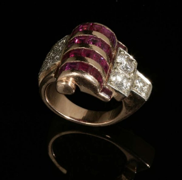 2012: A retro diamond and ruby ring
