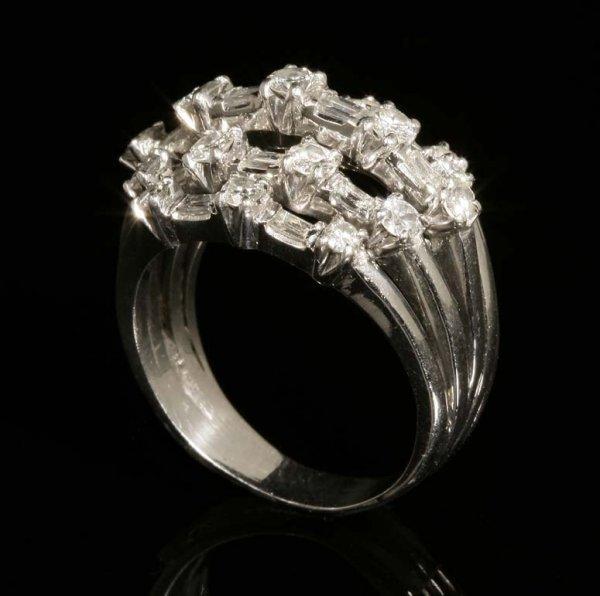 2015: A platinum and diamond ring