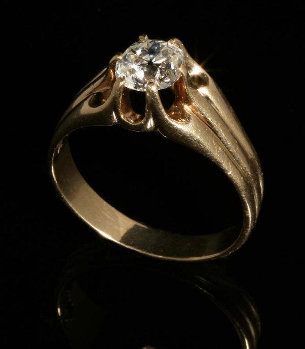 2023: A single stone diamond ring