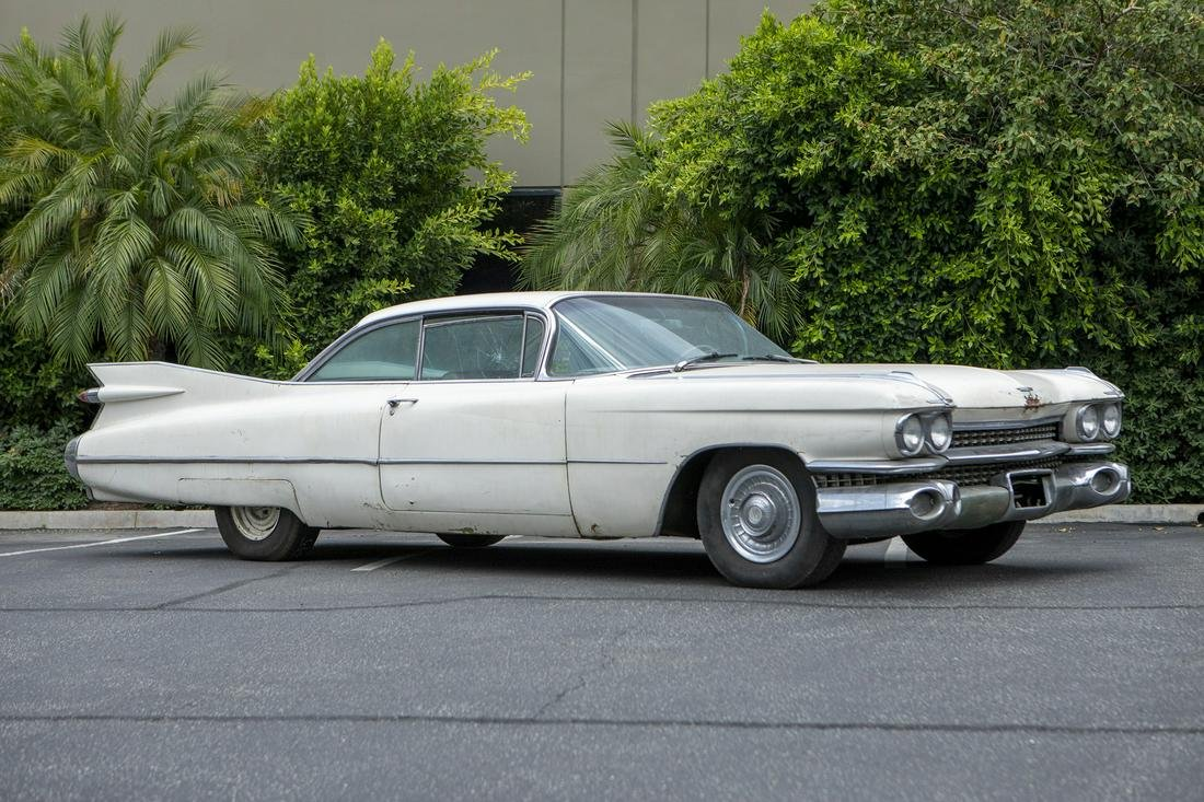 A 1959 Cadillac two-door Coupe Deville hardtop