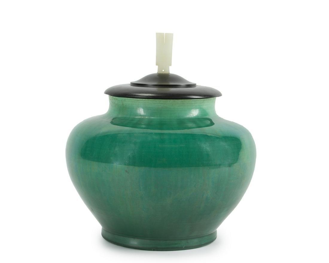 A Chinese bulbous vase