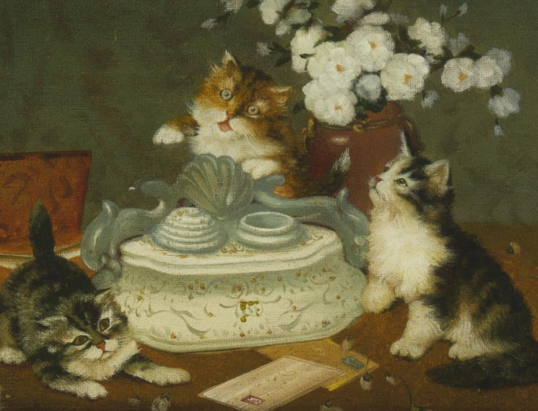 Three kittens with an ink well
