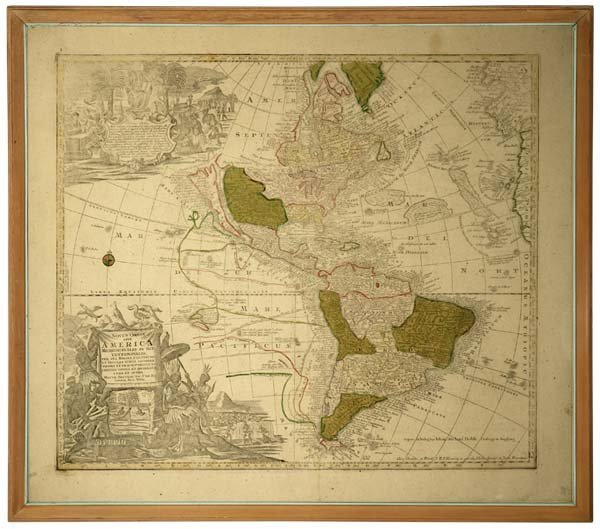 1079: Matthew Seutter ''Novus Oribs Sive America'' map