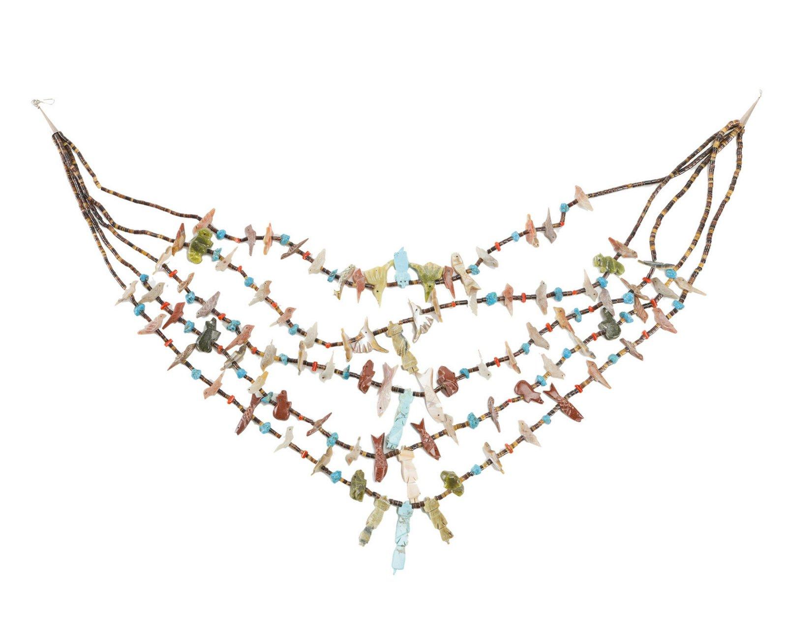 A Zuni fetish necklace
