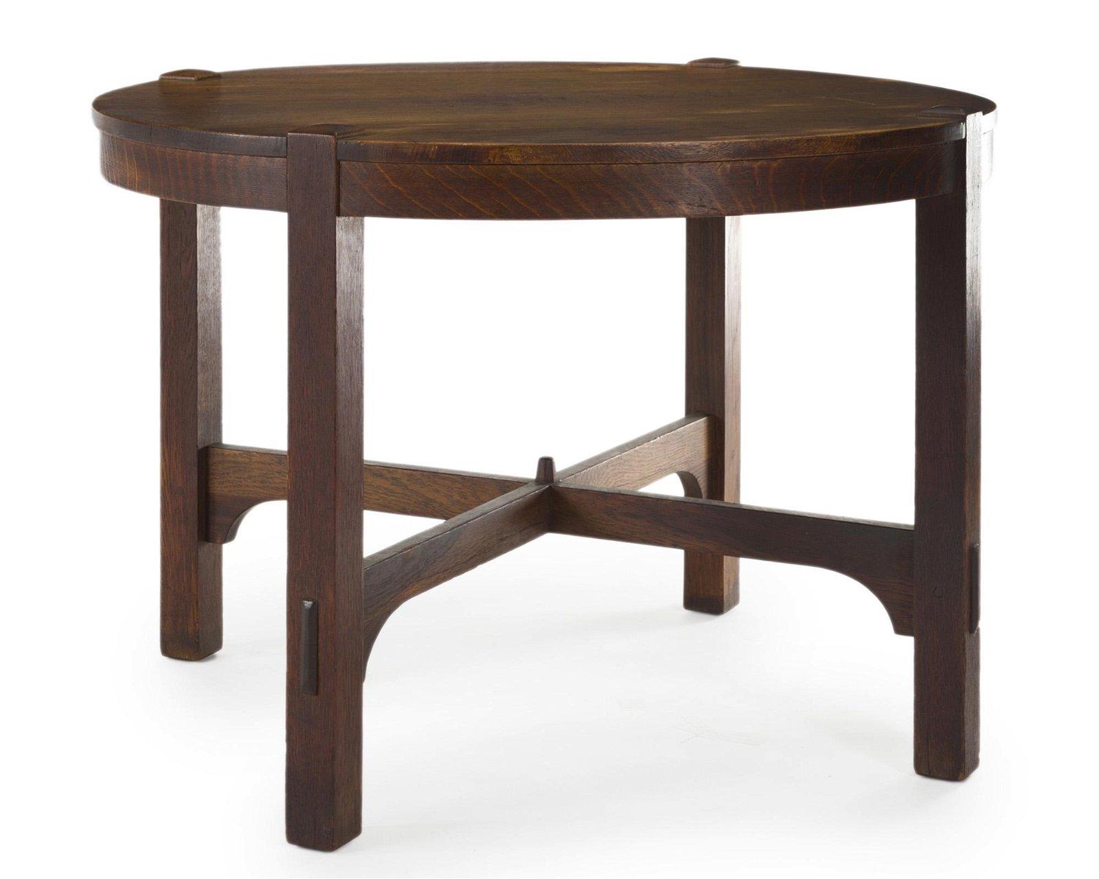 A Gustav Stickley oak table, No. 626