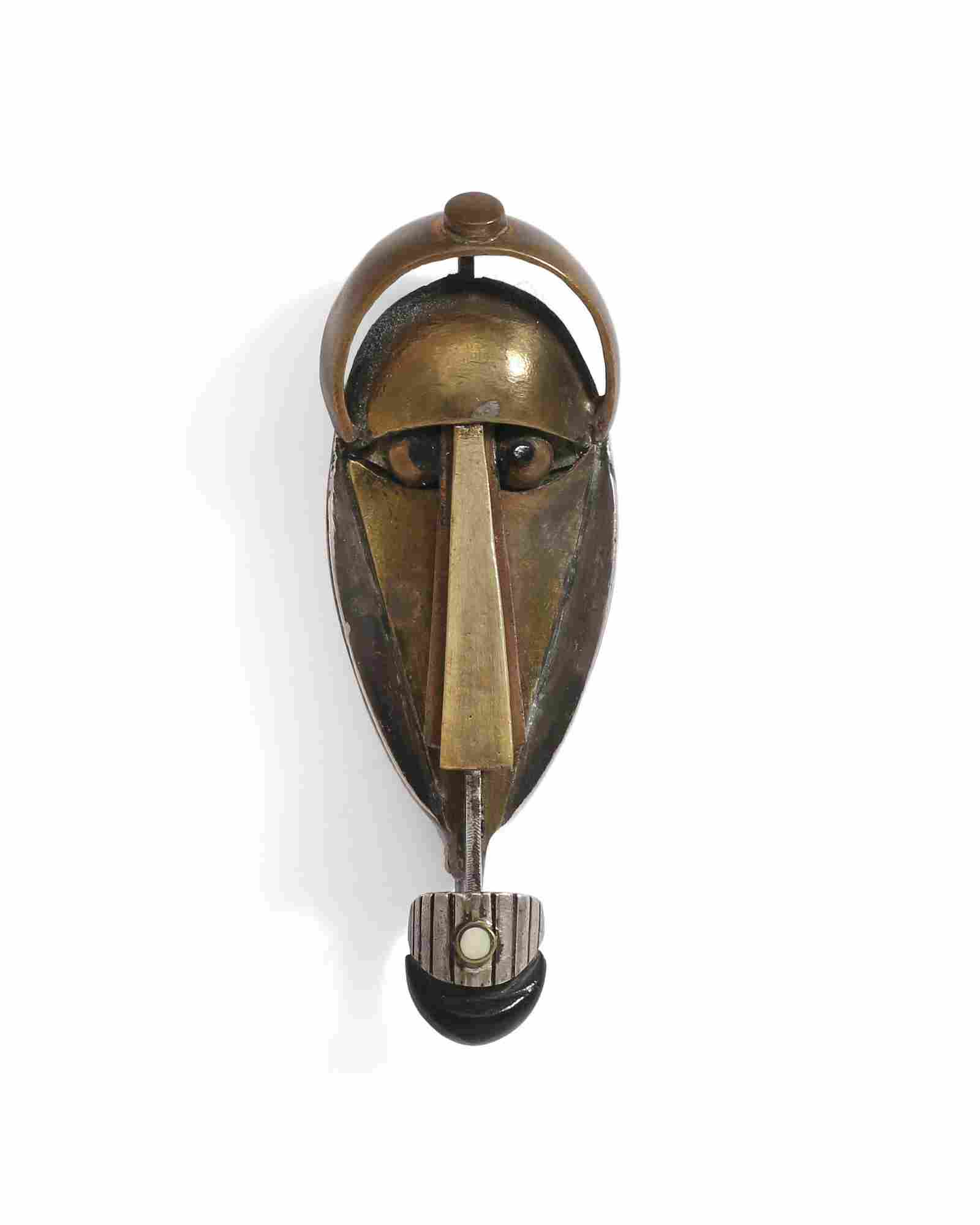 A Peter Macchiarini Modernist mixed-metal brooch