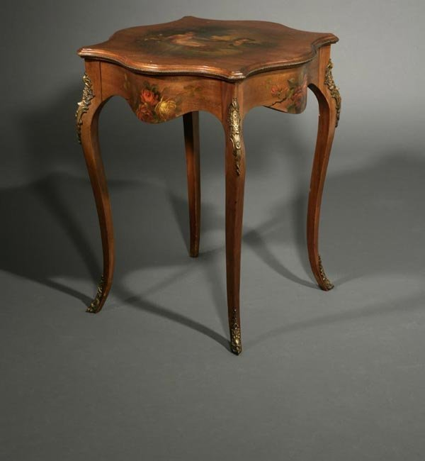 1014: A Louis XV style painted center table