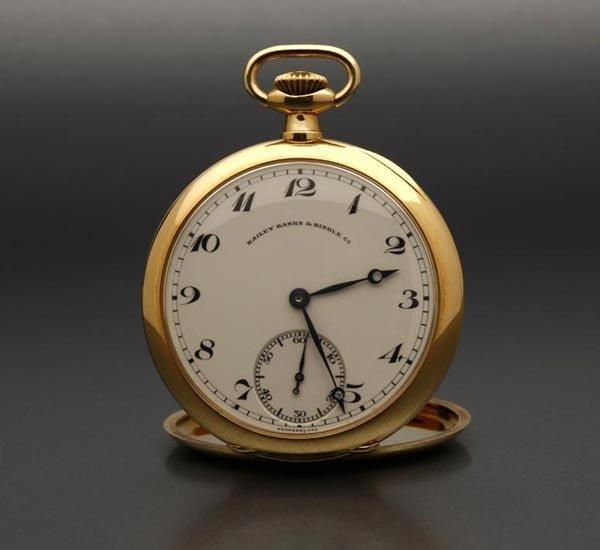 1018: Gentleman's Patek Philippe 18k gold pocket watch