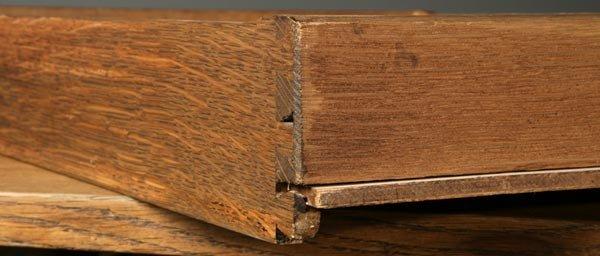 1062: Gustav Stickley oak library table desk #653 - 5
