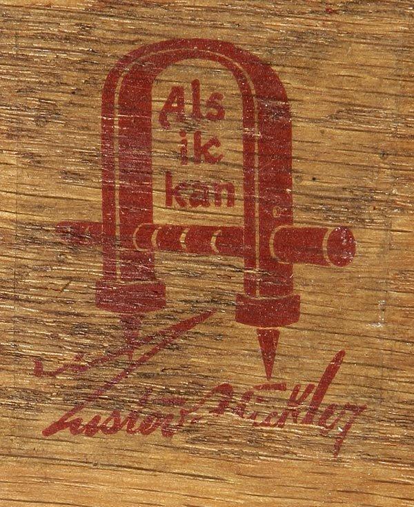 1062: Gustav Stickley oak library table desk #653 - 7