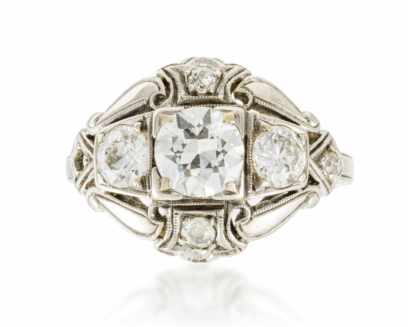 A late Art Deco diamond ring