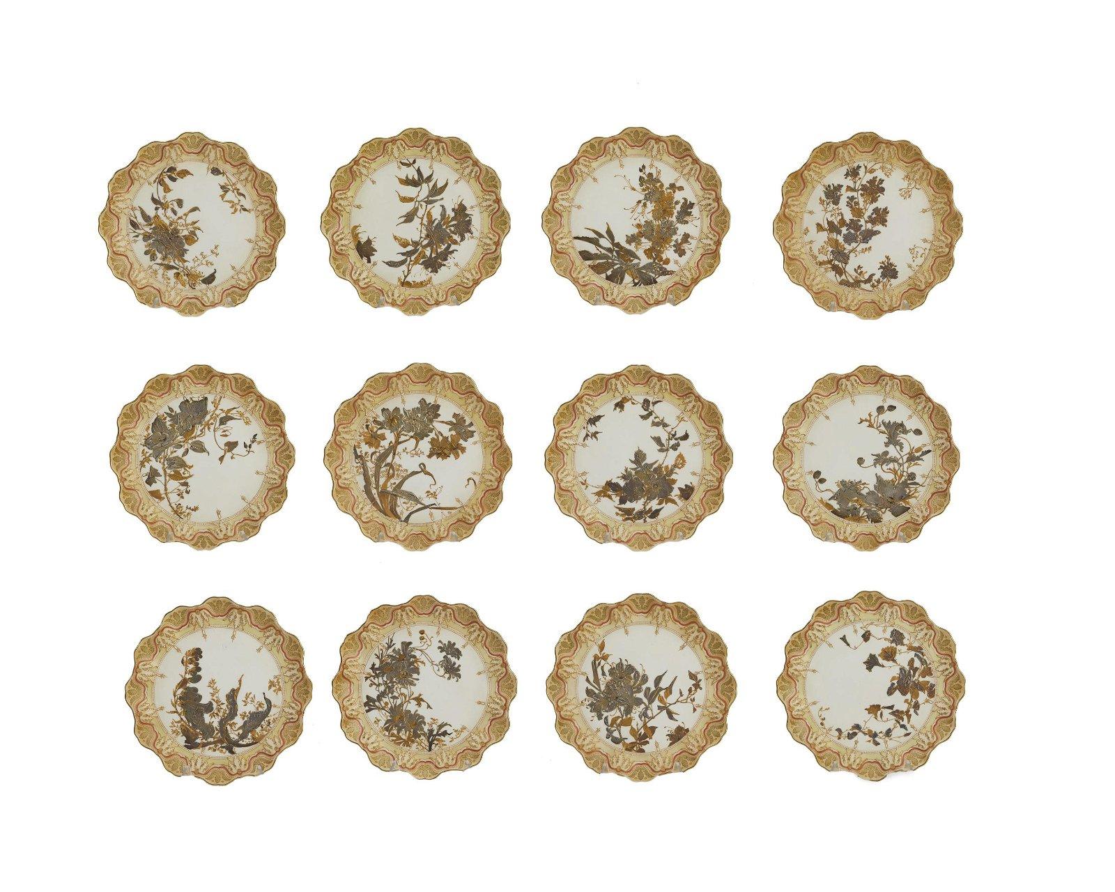 Twelve Royal Doulton luncheon plates