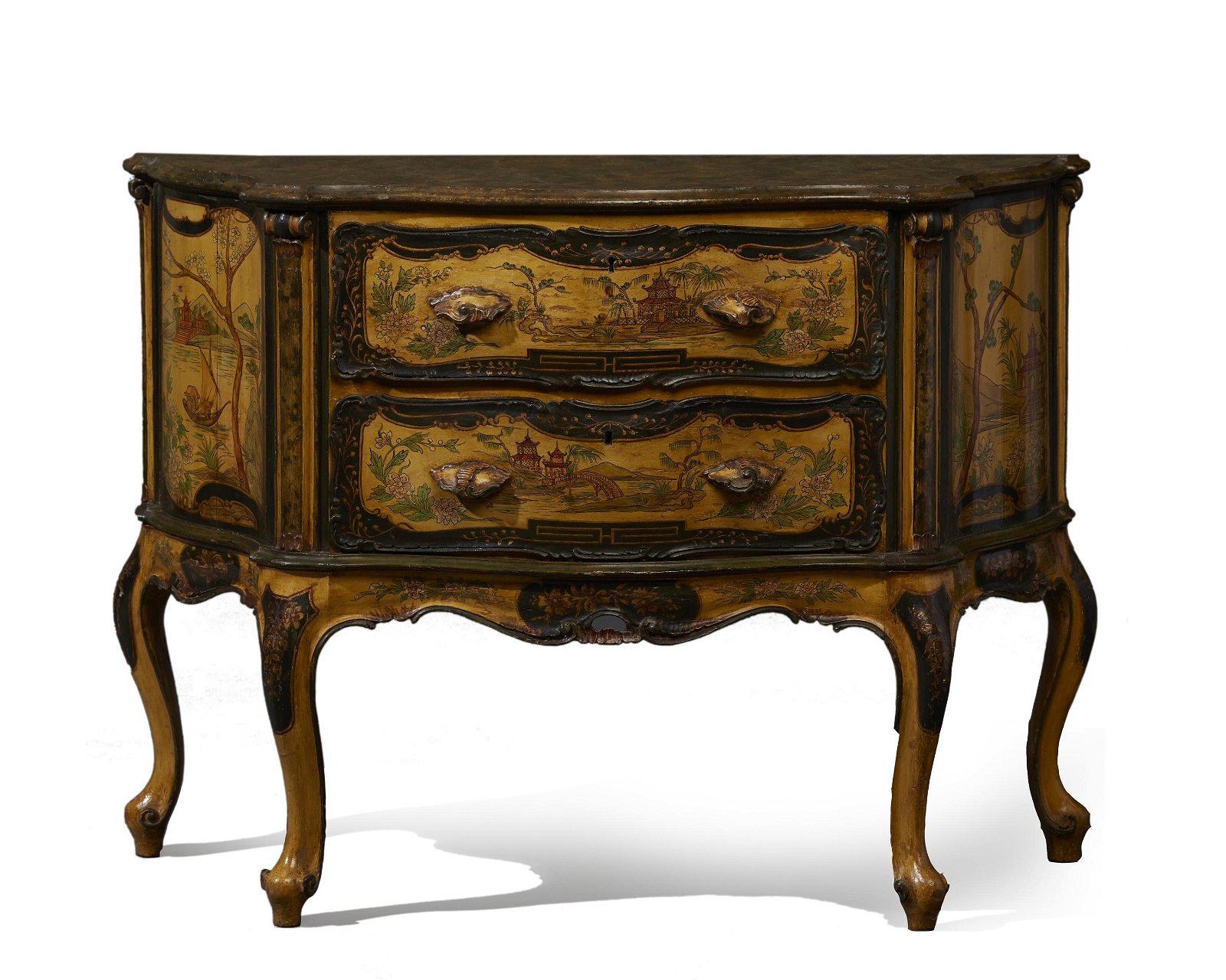 An Italian Chinoiserie-motif chest
