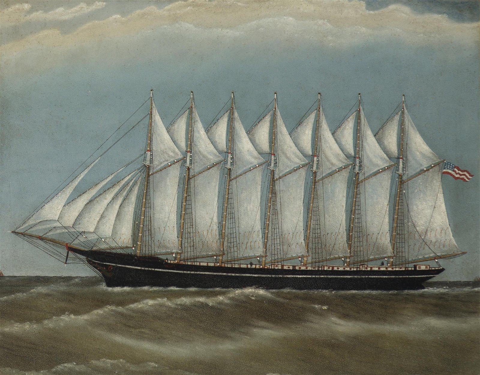The Thomas W. Lawson, Seven-masted schooner