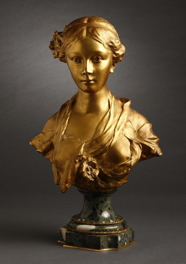 1006: After Julien Monier gilt bronze bust beauty