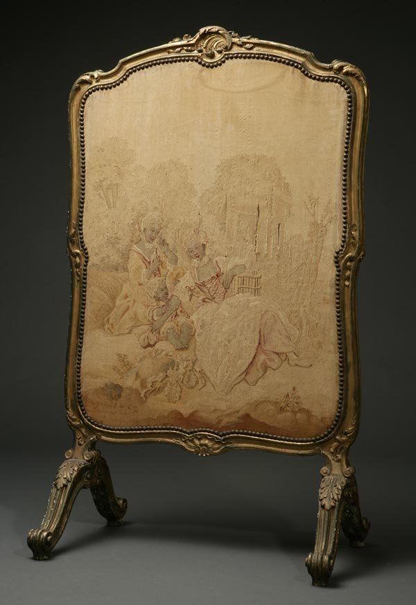 1008: A Louis XV style giltwood fire screen