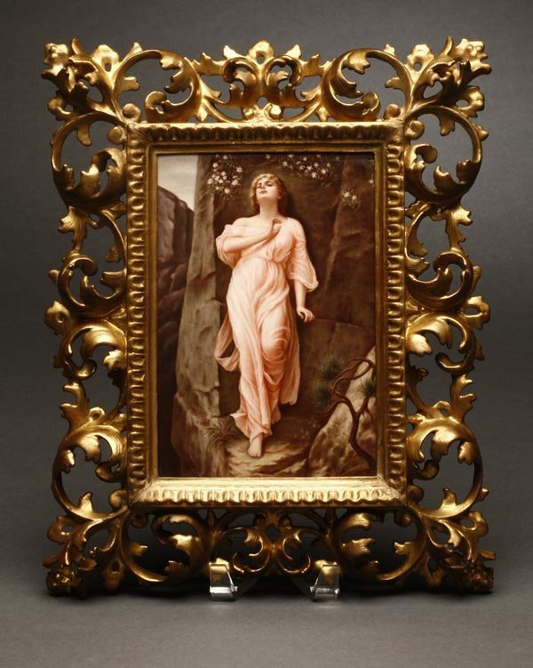 1150: A Berlin KPM porcelain plaque beauty Edelweiss