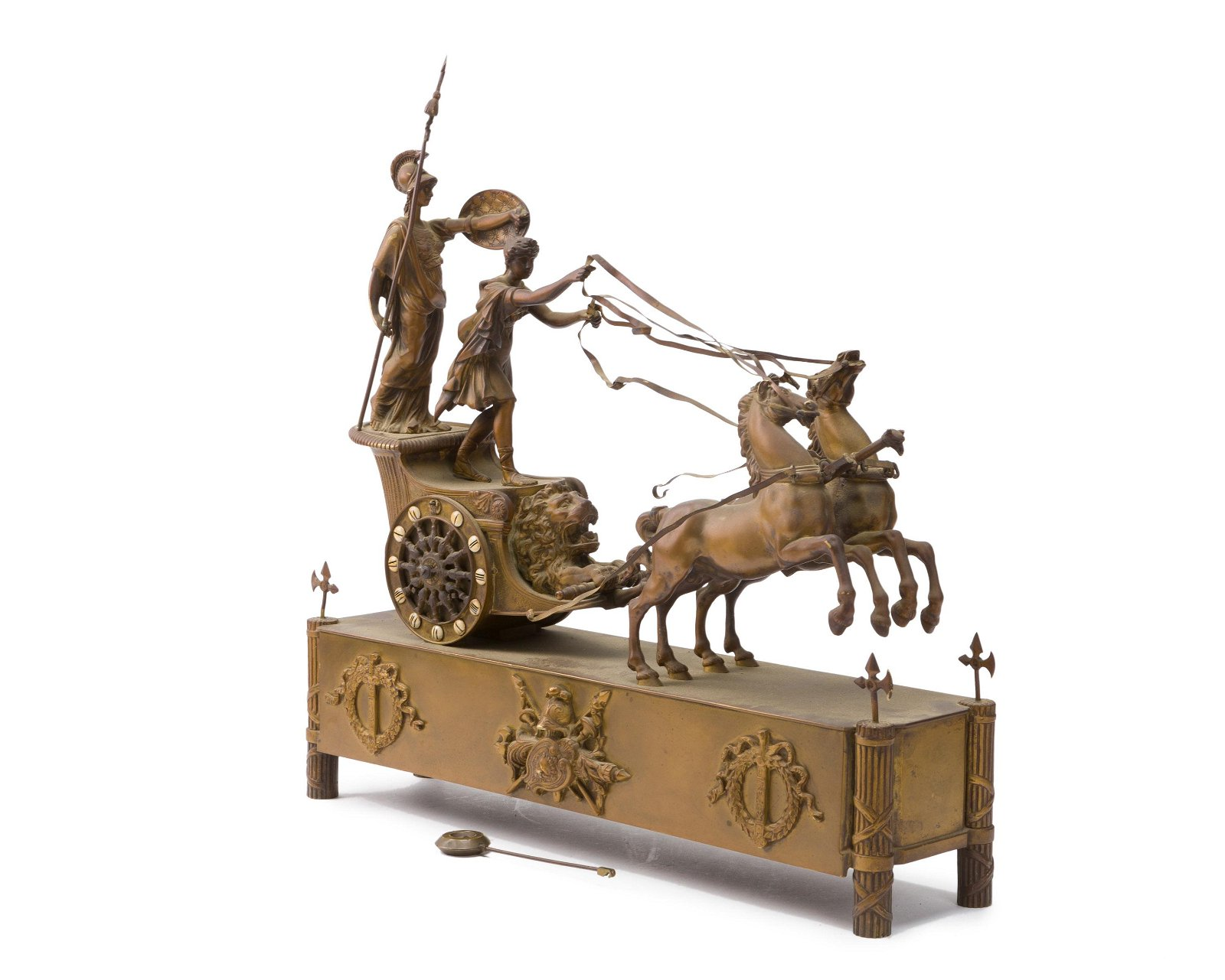A French bronze mantle clock