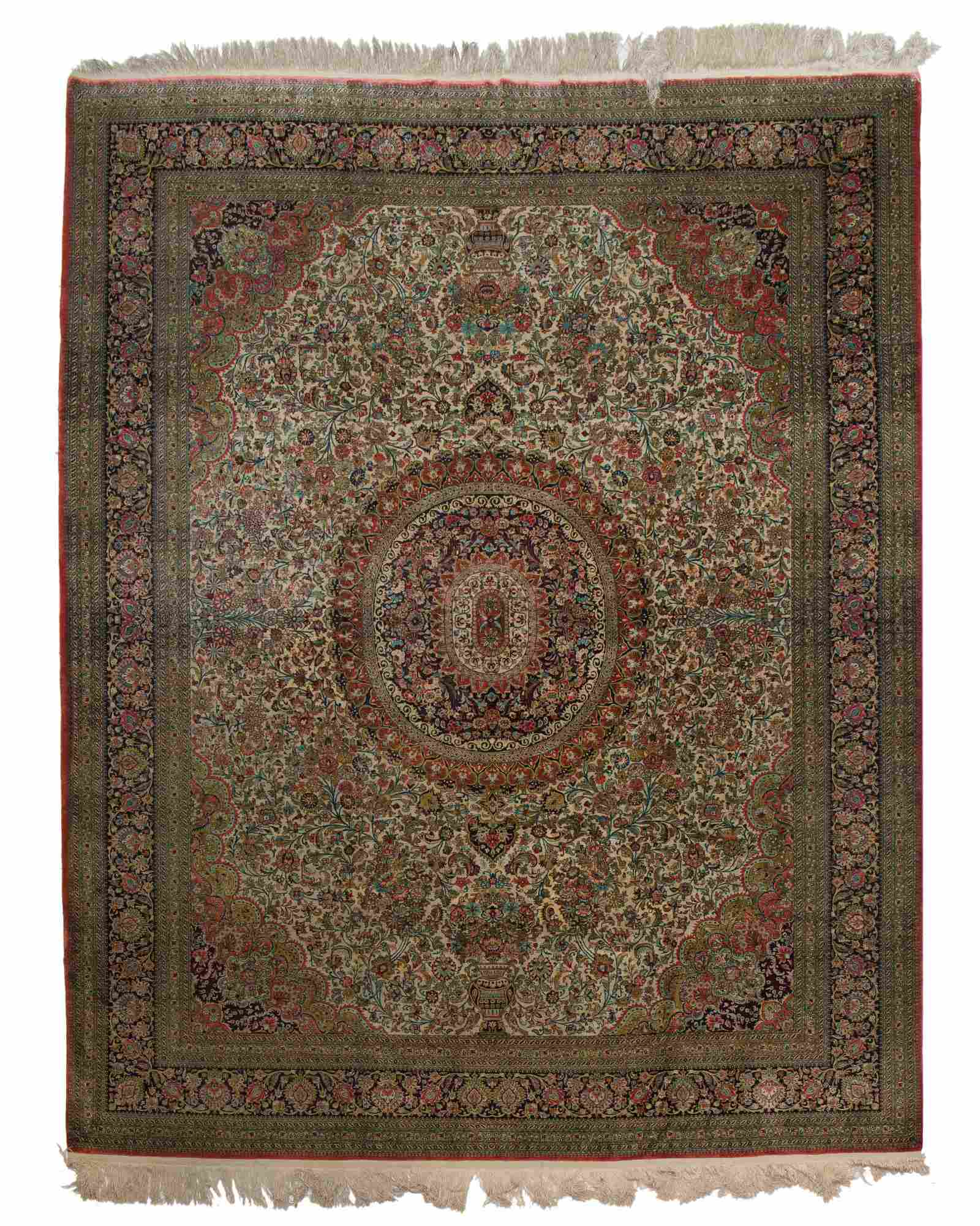 A large Persian area rug