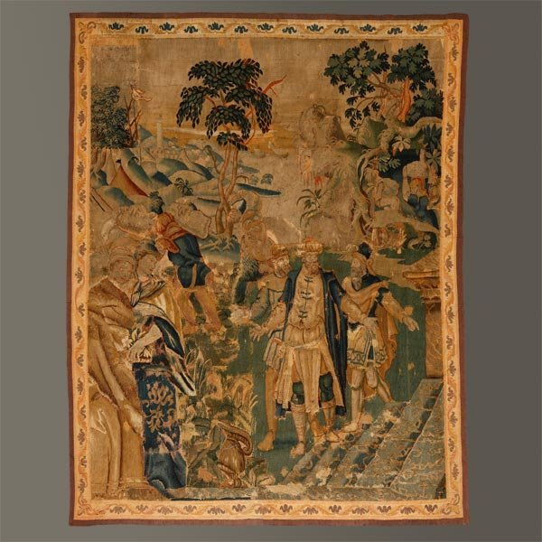 1016: A Flemish historical tapestry fragment