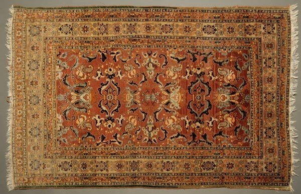 1021: A Persian Tabriz silk and wool carpet rug