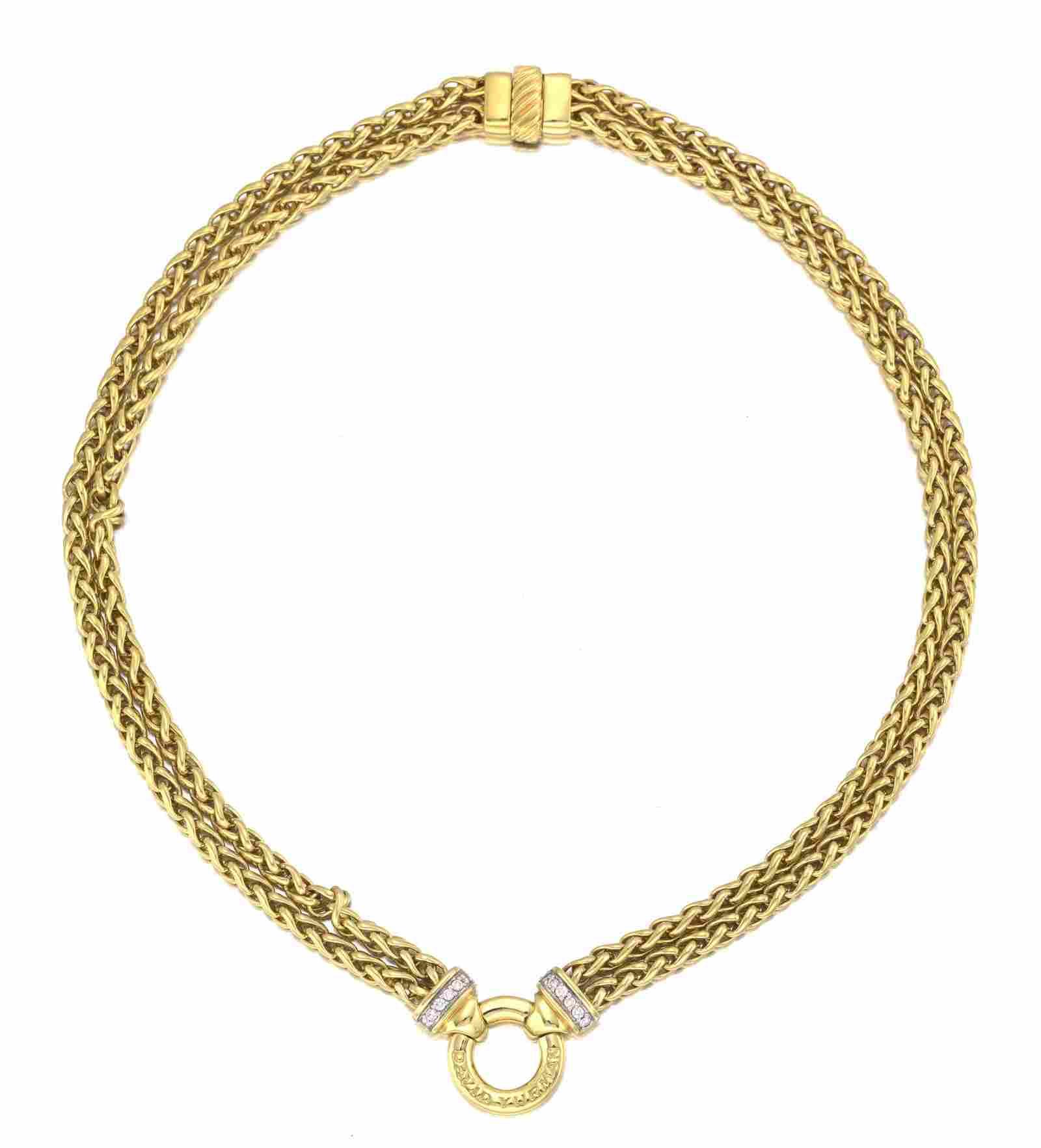 A David Yurman diamond necklace