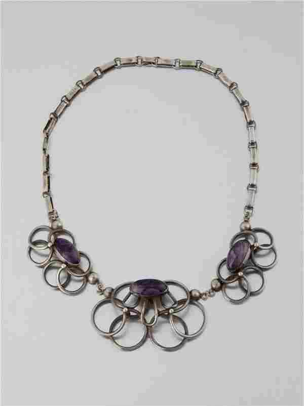 A Raphael Melendez sterling silver and amethyst