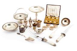 A group of miscellaneous sterling silver objects