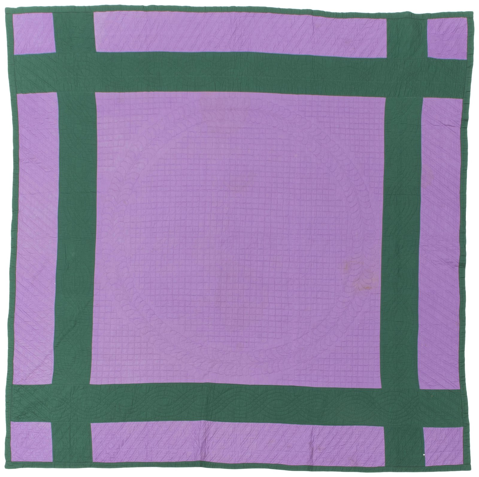 An Amish Window Pane/Plain quilt