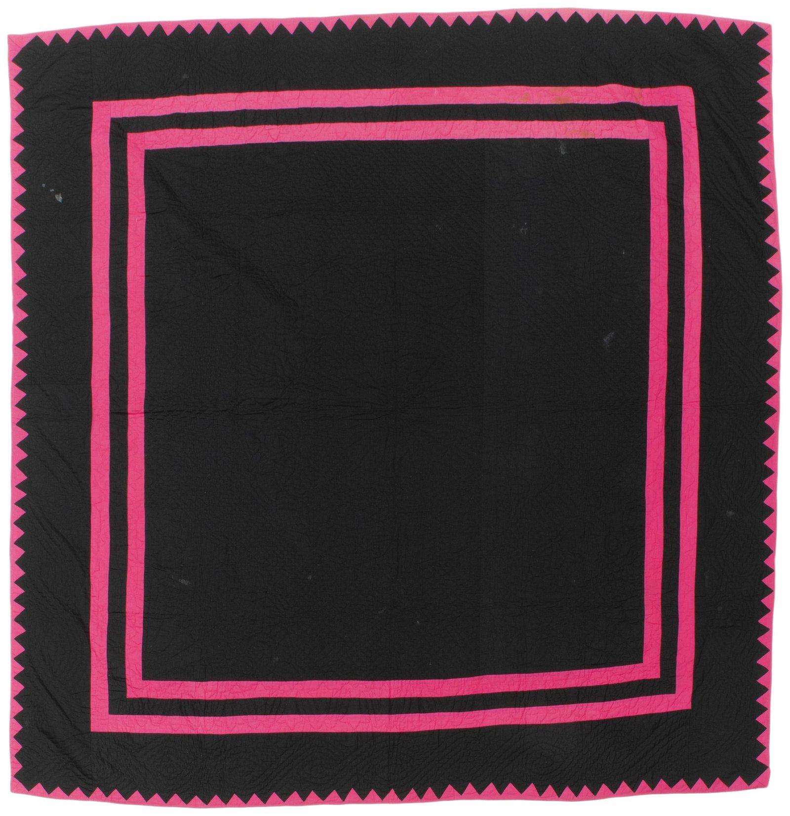 An Amish Window Pane/ Plain quilt