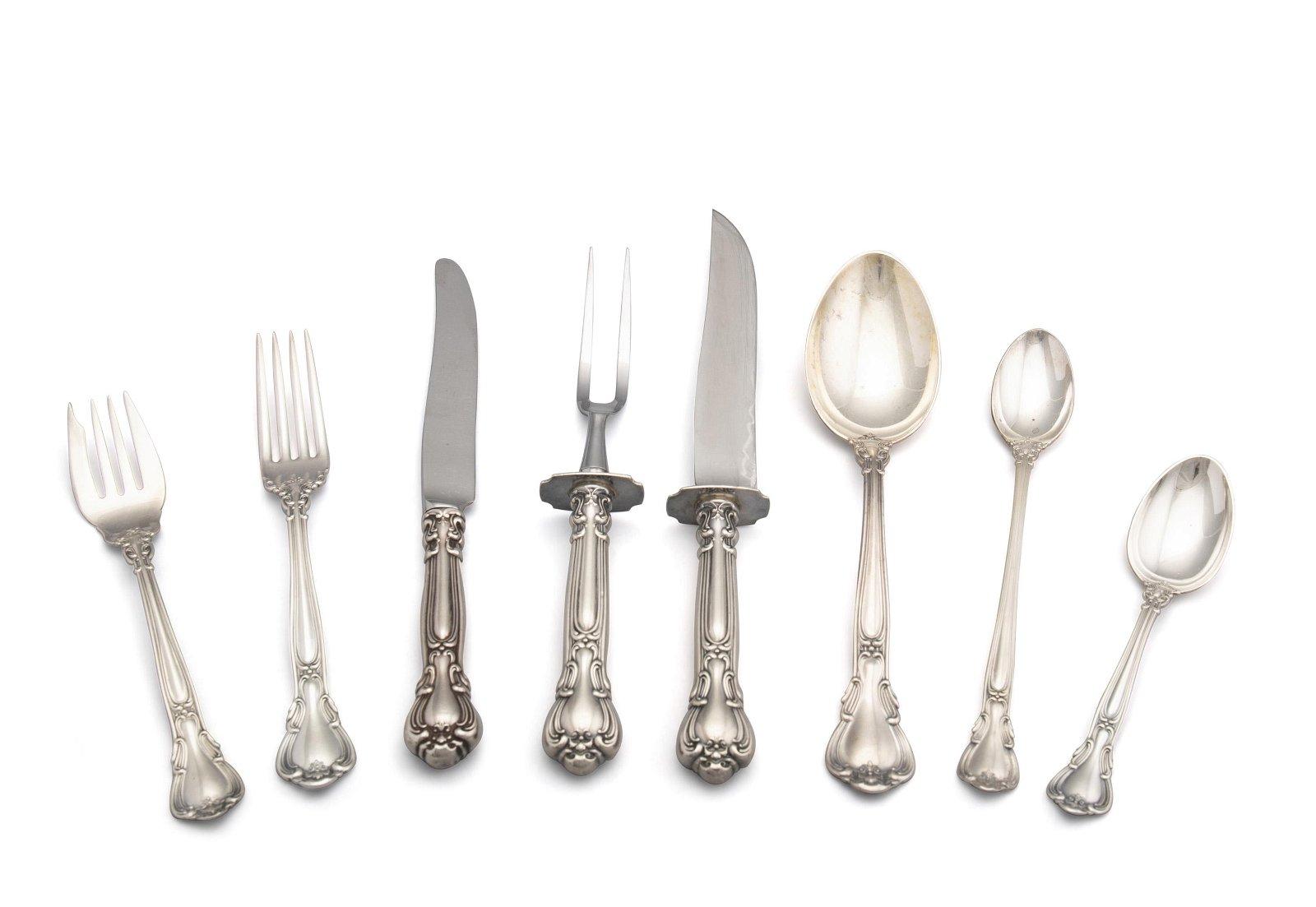 "A Gorham ""Chantilly"" sterling silver flatware service"