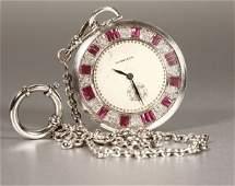 1182 An Art Deco diamond pocket watch Tiffany  Co
