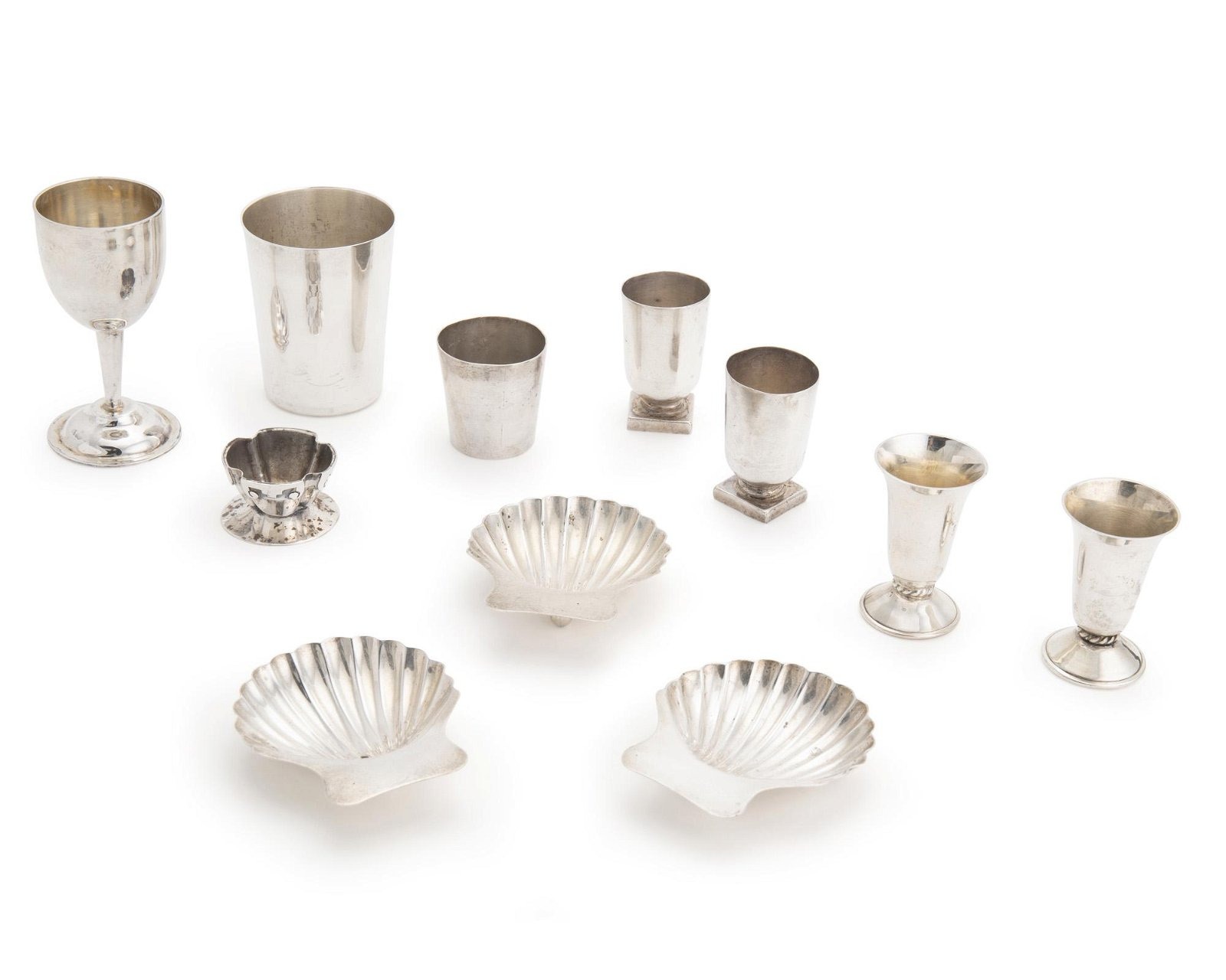 A large group of Mexican sterling silver items