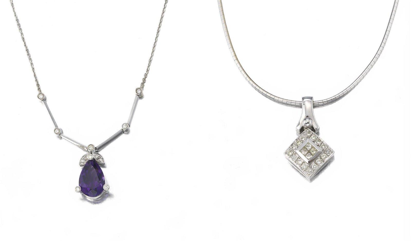 Two pendant necklaces