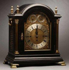 2012: A Georgian style ebonized mantel clock