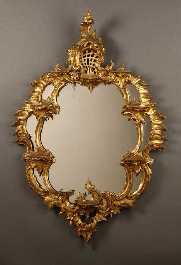 2017: A George III style giltwood mirror