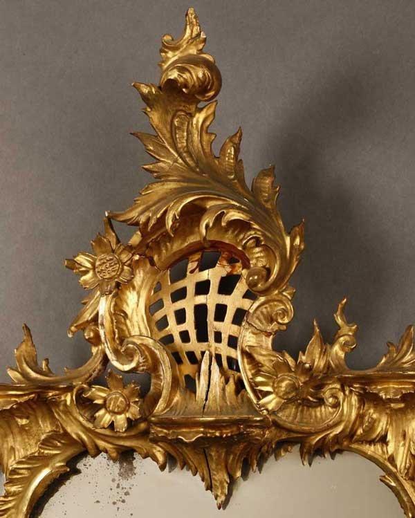 2017: A George III style giltwood mirror - 2
