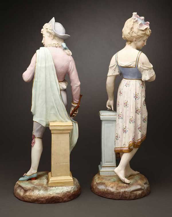 2177: Pair French Paris Baury & Vion porcelain figures - 3