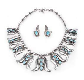 A set of Frank Patania Sr. sterling silver jewelry