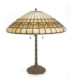 A Bigelow & Kennard leaded glass lamp