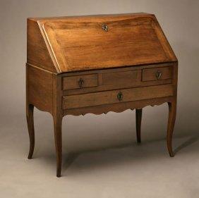 A Louis XV Provincial Style Fruitwood Bureau