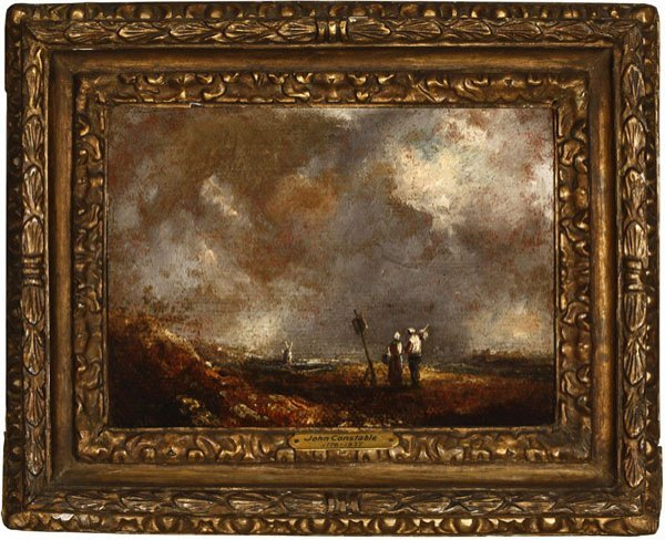 1021: Manner of Constable, 19th / early 20th c, figures