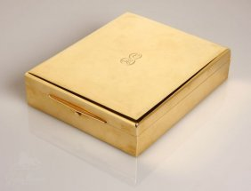 1199: A Tiffany & Co. 18K yellow gold dresser box