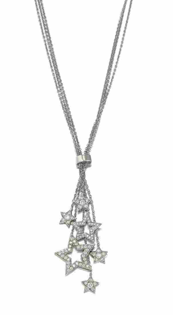 A Tiffany & Co. diamond star necklace