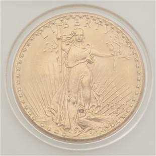 A 1927 Saint-Gaudens Double Eagle $20 gold coin