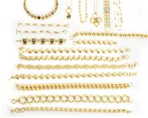 A large group of goldtoned Anne Klein costume jewelry