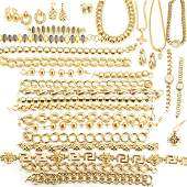A large group of goldtoned Anne Klein jewelry